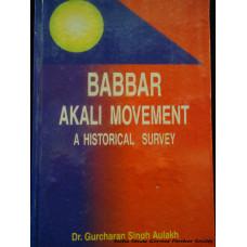 Babbar Akali Movement - a historical Survey
