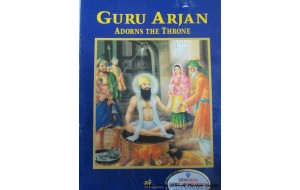 Guru Arjan adorns the throne